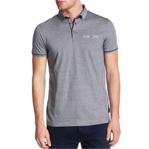 Ted Baker   Trynor Blue Stripe Polo Shirt L
